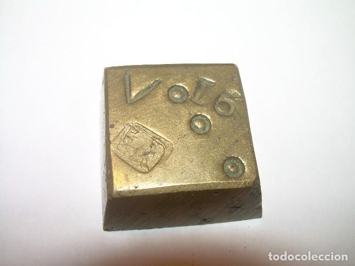 Antigüedades: DOS ANTIGUOS PONDERALES DE BRONCE...F.R. - Foto 3 - 128625015