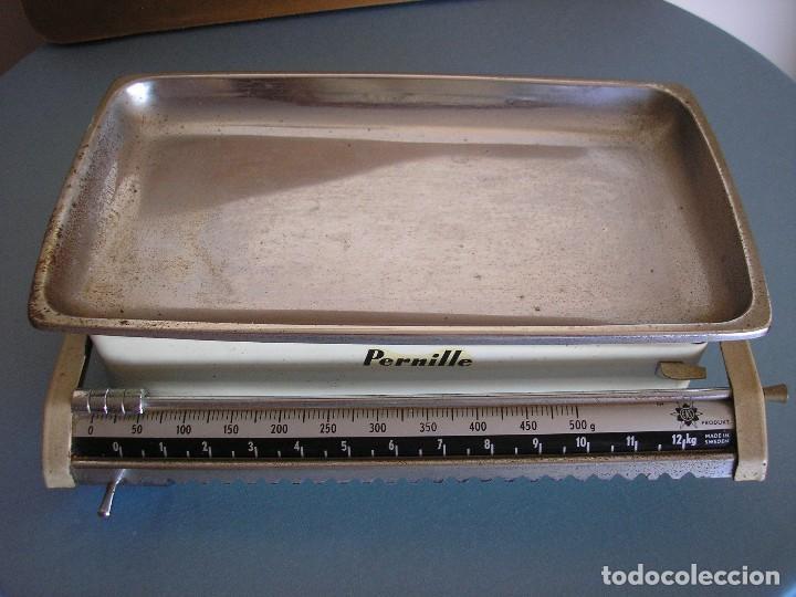 BÁSCULA O PESA MARCA PERNILLE (Antigüedades - Técnicas - Medidas de Peso - Básculas Antiguas)