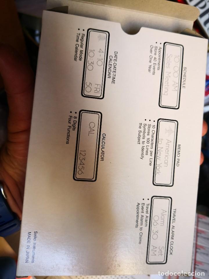 Antigüedades: PROGRAMADOR calculadora DF-1200 DE SEIKO INSTRUMENTS NEW OLD STOCK,NO ESTA PRECINTADO.LA CAJA - Foto 3 - 128662467
