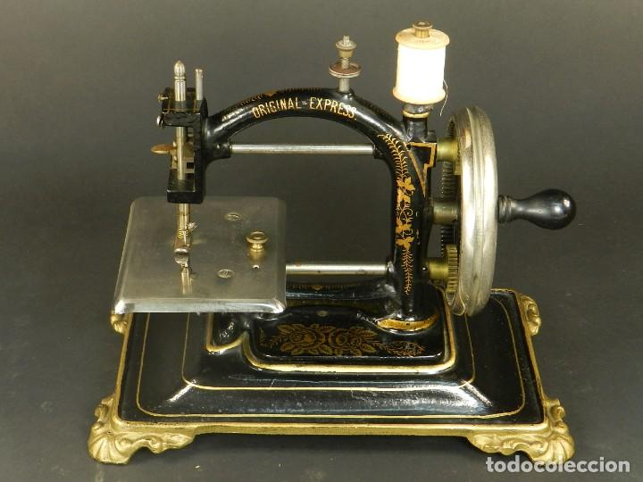 Antigüedades: Antigua máquina de coser Original Express año 1910. PIEZA RARA - Foto 2 - 128665355