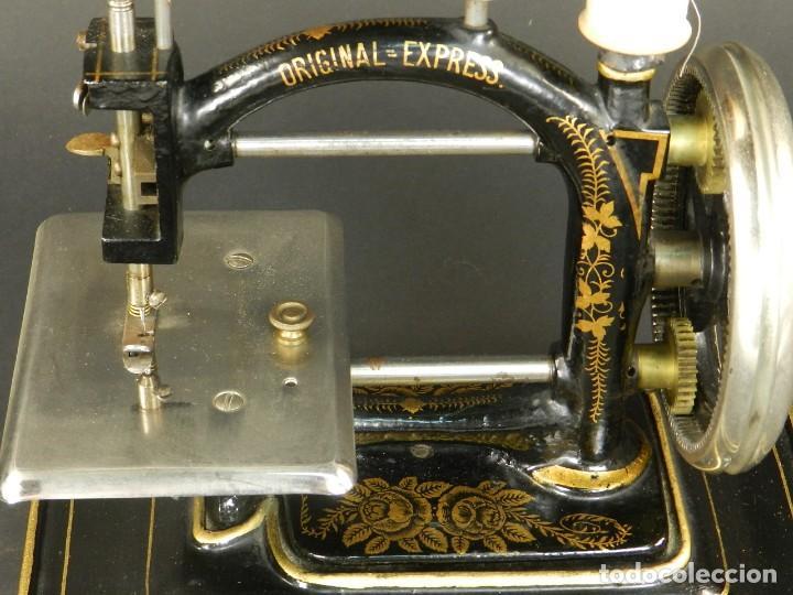 Antigüedades: Antigua máquina de coser Original Express año 1910. PIEZA RARA - Foto 3 - 128665355
