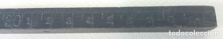 Antigüedades: COLECCIÓN DE 6 REGLAS DE MADERA. ALGUNAS SIN MILIMETRAR. SIGLO XX. - Foto 3 - 128868647