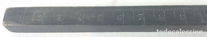 Antigüedades: COLECCIÓN DE 6 REGLAS DE MADERA. ALGUNAS SIN MILIMETRAR. SIGLO XX. - Foto 4 - 128868647