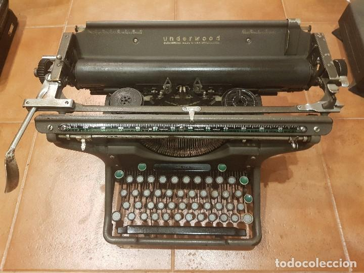 MÁQUINA DE ESCRIBIR UNDERWOOD CARRO LARGO FUNCIONANDO (Antigüedades - Técnicas - Máquinas de Escribir Antiguas - Underwood)