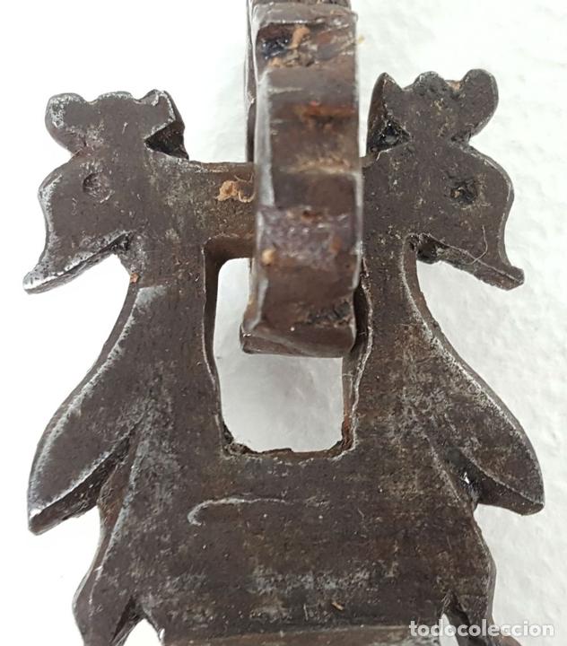 Antigüedades: HERRAJE DE CIERRE PARA BARGUEÑO. HIERRO FORJADO. SIGLO XVII-XVIII - Foto 4 - 129051995