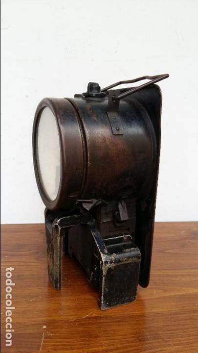 Antigüedades: FAROL DE FERROVIARIO, TREN. GRANDE, MUY RARO. - Foto 2 - 129119035