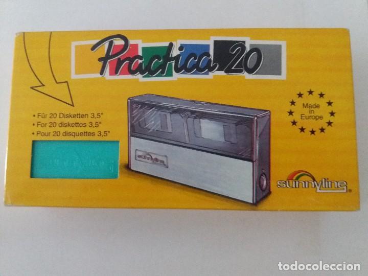 PORTA DISKETES 3.5 PULGADAS ESTRENALO CON SU CAJA. MADE IN EUROPA (Antigüedades - Técnicas - Ordenadores hasta 16 bits (anteriores a 1982))