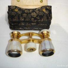 Antigüedades: PRECIOSOS ANTEOJOS DE TEATRO SIGLO XIX EN SU ESTUCHE ORIGINAL DE COLECCION VER FOTOS. Lote 129392703