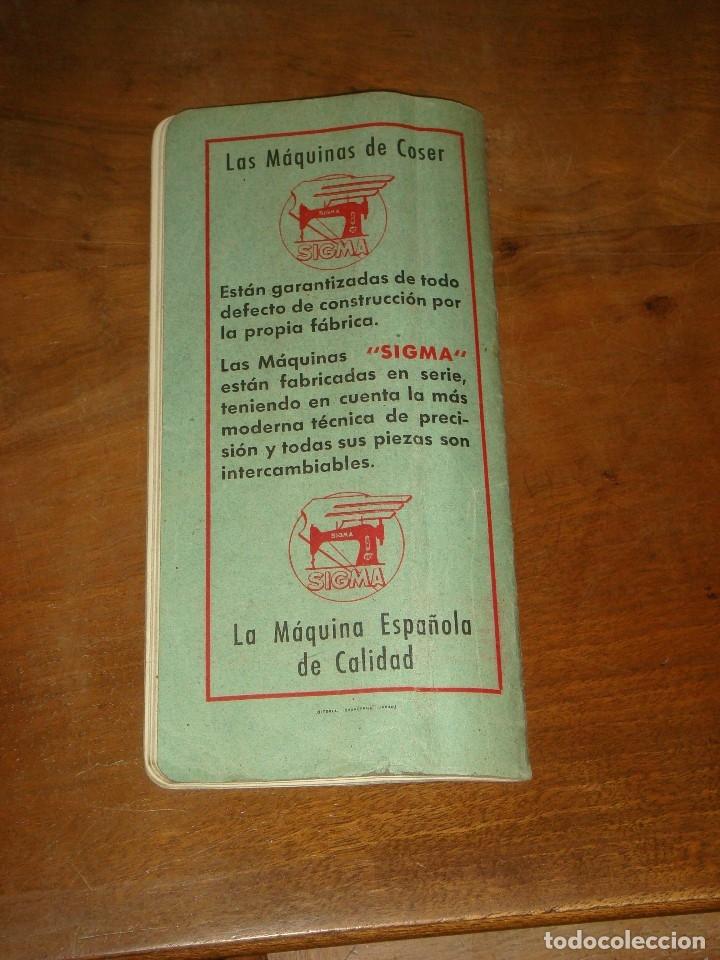 Antigüedades: MAQUINA DE COSER SIGMA, ESTARTA Y ECENARRO, ELGOIBAR. MUEBLE DE MADERA CON TAPA. FUNCIONA. C1945 - Foto 24 - 221821615