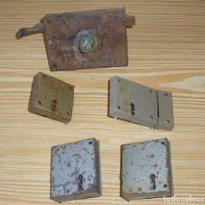 Antigüedades: CERRADURA.LOTE DE 5 CERRADURAS. Lote 129614383