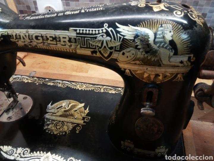 Antigüedades: Maquina de coser Singer edicion Howard Carter 1922 Escocia - Foto 2 - 129668498