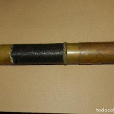 Antigüedades: (M) CATALEJO ANTIGUO S.XIX EN BRONCE Y PIEL , TAMAÑO ABIERTO 96 CM , TAMANÑO CERRADO 38 CM. Lote 129724403