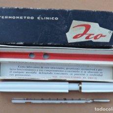 Antigüedades: TERMÓMETRO CLÍNICO DE MERCURIO ICO 36. Lote 129750223