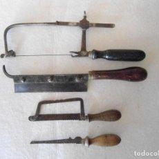 Antigüedades: LOTE DE 4 ANTIGUAS SEGUETAS. Lote 129953883