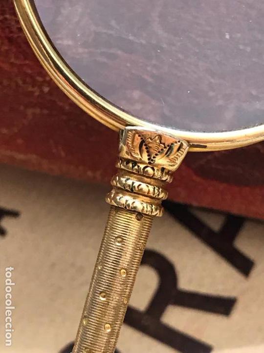 Antigüedades: Gafas lupa con mecanismo o impertinentes de teatro en oro - siglo XIX - Marcadas - Ver fotos - Foto 4 - 130066939