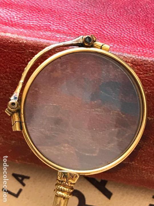 Antigüedades: Gafas lupa con mecanismo o impertinentes de teatro en oro - siglo XIX - Marcadas - Ver fotos - Foto 5 - 130066939