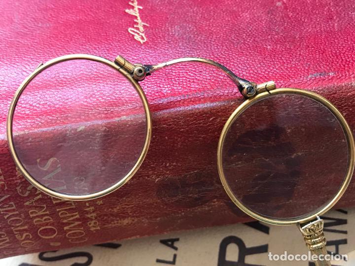 Antigüedades: Gafas lupa con mecanismo o impertinentes de teatro en oro - siglo XIX - Marcadas - Ver fotos - Foto 8 - 130066939