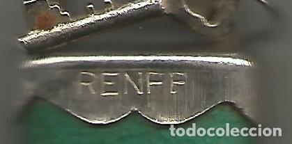 Antigüedades: ANTIGUO CANDADO GRABADO RENFE DOS LLAVES FUNCIONANDO - Foto 4 - 130104799