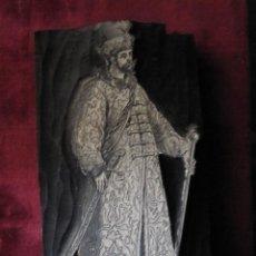 Antigüedades: SOBERBIO TACO XILOGRAFICO. S.XVIII-XIX. GRAN DUQUE DE MOSCOVIA. 12 X 7 CM Y 2,40 GRUESO. Lote 130109687
