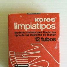 Antigüedades: LIMPIATIPOS KORES 12 TUBOS – AÑOS 80. Lote 130203243