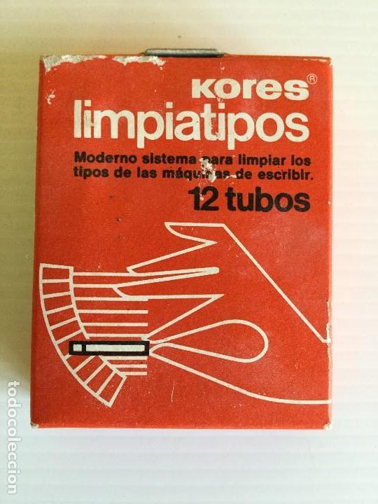 LIMPIATIPOS KORES 12 TUBOS – AÑOS 80 (Antigüedades - Técnicas - Máquinas de Escribir Antiguas - Otras)