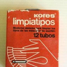 Antigüedades: LIMPIATIPOS KORES 12 TUBOS – AÑOS 80. Lote 130203667