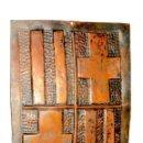 Antigüedades: ESCUDO DE BARCELONA EN COBRE REPUJADO. Lote 130323382