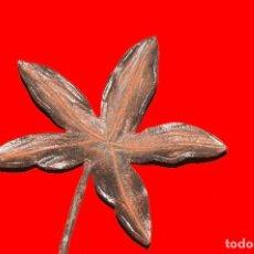 Antigüedades: HOJA REPUJADA EN HIERRO FORJADO. Lote 130361398