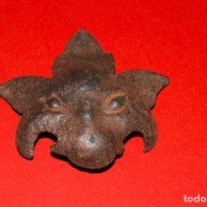 Antigüedades: CARA REPUJADA EN HIERRO FORJADO. Lote 130362066