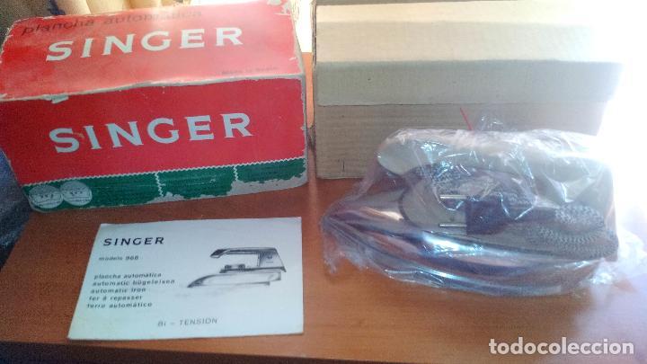 Antigüedades: ANTIGUA PLANCHA ELECTRICA - SINGER - MOD. 968 - A ESTRENAR - !!!UNICA EN TODOCOLECCION¡¡¡¡ .ZXY. - Foto 2 - 130409842