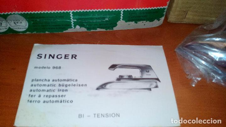 Antigüedades: ANTIGUA PLANCHA ELECTRICA - SINGER - MOD. 968 - A ESTRENAR - !!!UNICA EN TODOCOLECCION¡¡¡¡ .ZXY. - Foto 4 - 130409842