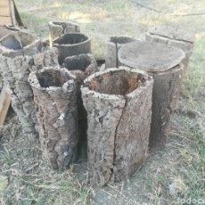 Antigüedades: ANTIGUAS COLMENAS DE CORCHO. Lote 130415506