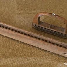 Antigüedades: LIZOS DE TELAR TEXTIL ANTIGUOS, DE MADERA.. Lote 130793584