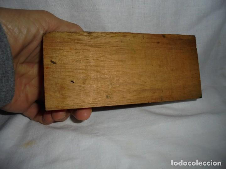 Antigüedades: ANTIGUO JUEGO DE MEDIDAS DE PESO DESDE 200 GRA A DECIMALES MADERA Y BRONCE - Foto 9 - 130797972