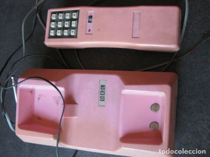 Teléfonos: antiguo bonito telefono de sobremesa y con soporte pared rosa DKL , sin probar , buen estado vintage - Foto 4 - 192147661