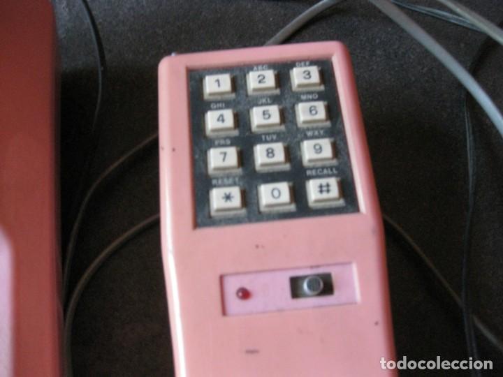 Teléfonos: antiguo bonito telefono de sobremesa y con soporte pared rosa DKL , sin probar , buen estado vintage - Foto 5 - 192147661