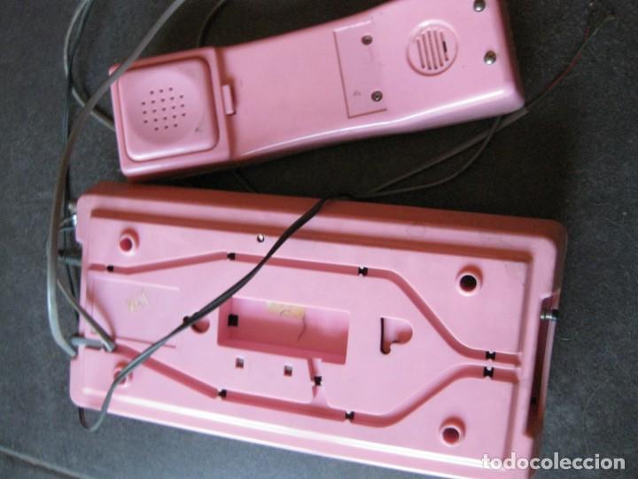 Teléfonos: antiguo bonito telefono de sobremesa y con soporte pared rosa DKL , sin probar , buen estado vintage - Foto 7 - 192147661
