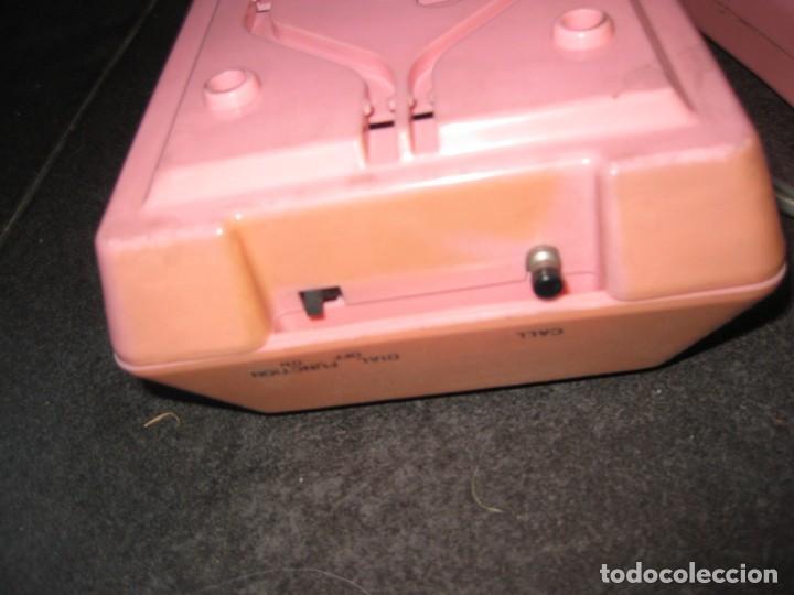 Teléfonos: antiguo bonito telefono de sobremesa y con soporte pared rosa DKL , sin probar , buen estado vintage - Foto 9 - 192147661
