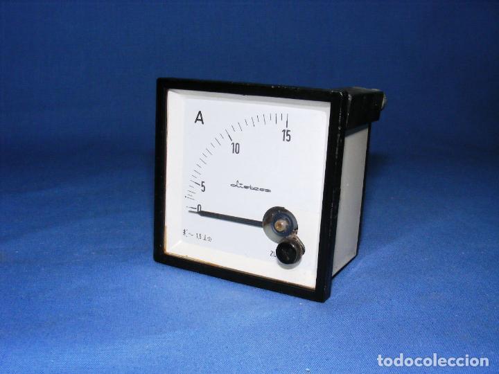 AMPERÍMETRO EMPOTRABLE ZURC (Antigüedades - Técnicas - Herramientas Profesionales - Electricidad)