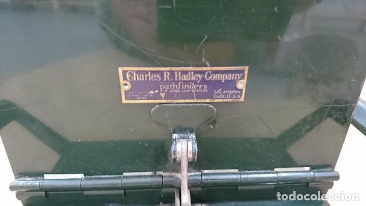 Antigüedades: Archivador antiguo Charles R. Hadley Company, USA - Foto 5 - 131089884