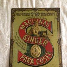 Antigüedades: ANTIGUO CARTEL PUBLICITARIO SINGER DE 1800!!!. Lote 131133987