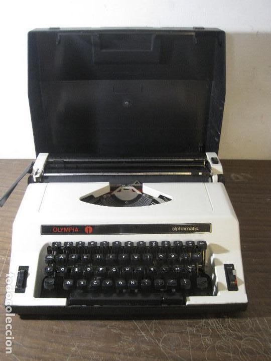OLYMPIA ALPHAMATIC (FUNCIONANTE) (Antigüedades - Técnicas - Máquinas de Escribir Antiguas - Olympia)
