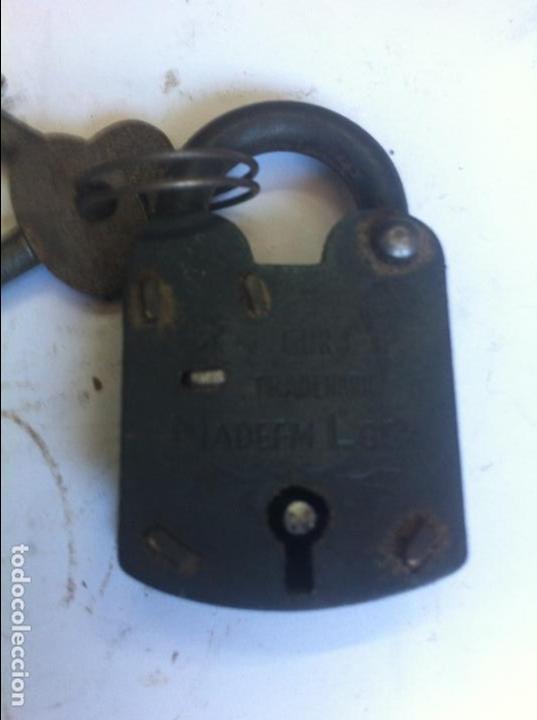 PRECIOSO CANDADO DE LA ANTIGUA FABRICA ALEMANA NADEEN LOCK (10) (Antigüedades - Técnicas - Cerrajería y Forja - Candados Antiguos)