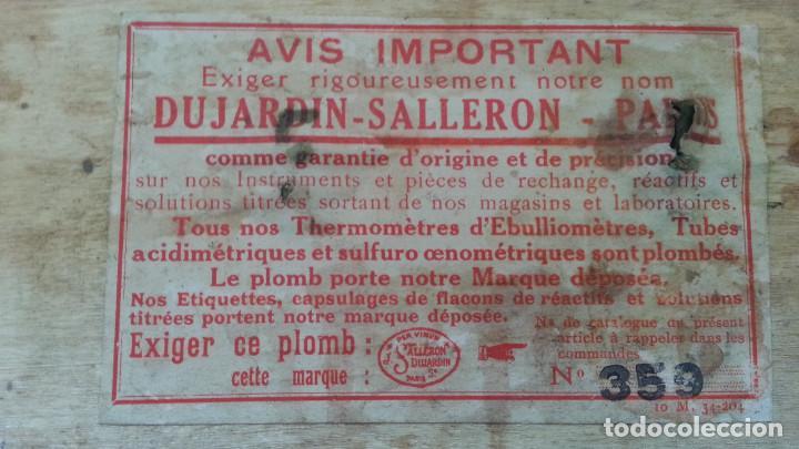 Antiquitäten: IMPRESIONANTE EQUIPO DE ANALITICA DE VINO. SIGLO XIX O PPIOS XX. DUJARDIN SALLERON - PARIS. - Foto 4 - 133532022