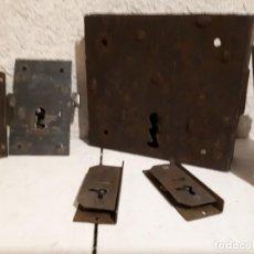 Antigüedades: LOTE DE 6 CERRADURAS ANTIGUAS SIN LLAVE. Lote 131363470