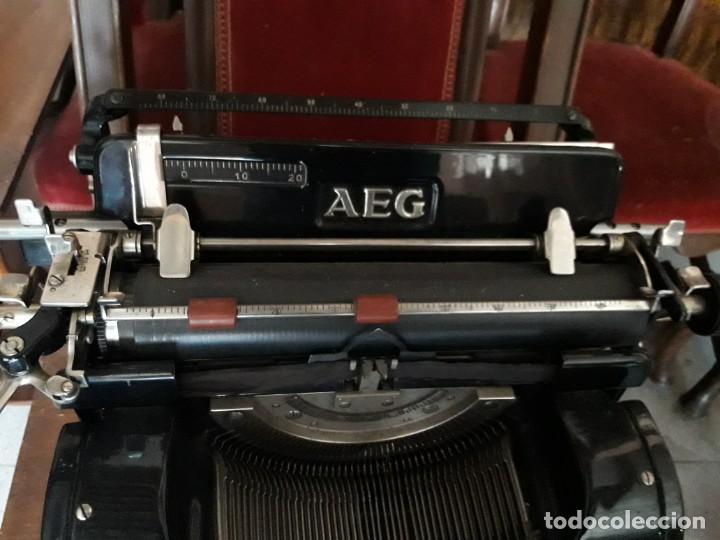 Antigüedades: Máquina escribir AEG - Foto 2 - 131492610