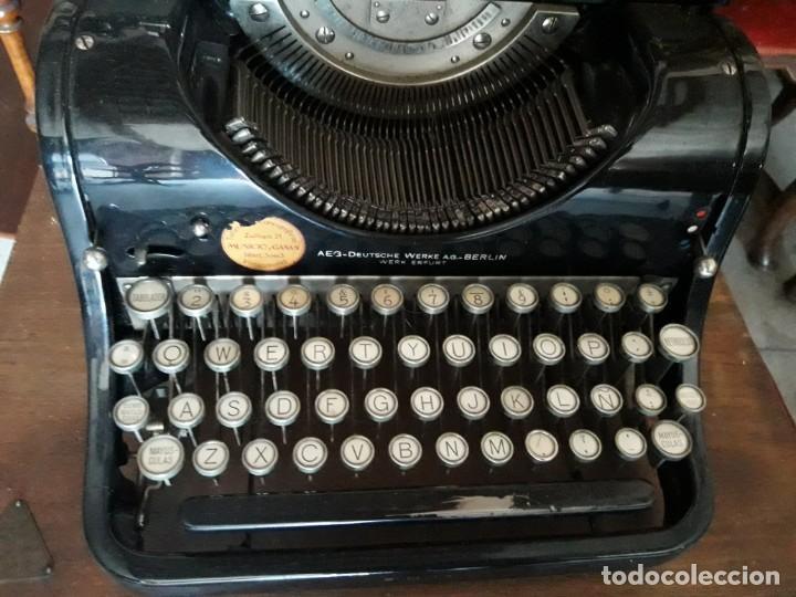 Antigüedades: Máquina escribir AEG - Foto 3 - 131492610
