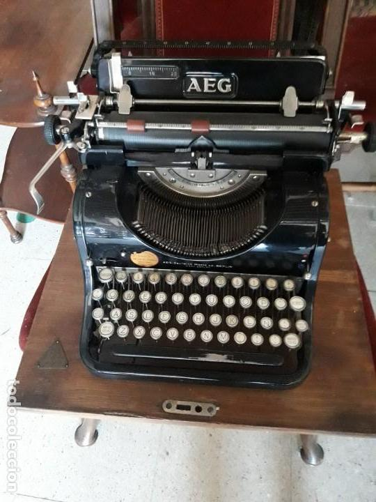 MÁQUINA ESCRIBIR AEG (Antigüedades - Técnicas - Máquinas de Escribir Antiguas - Otras)