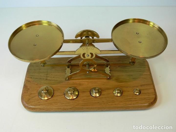 Antigüedades: balanza pesacartas - Foto 2 - 131513838