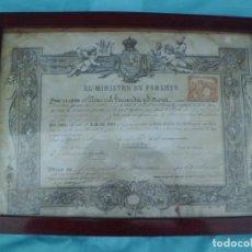 Antiquitäten - PRECIOSO TITULO DE FARMACIA 1.890 - 131533470